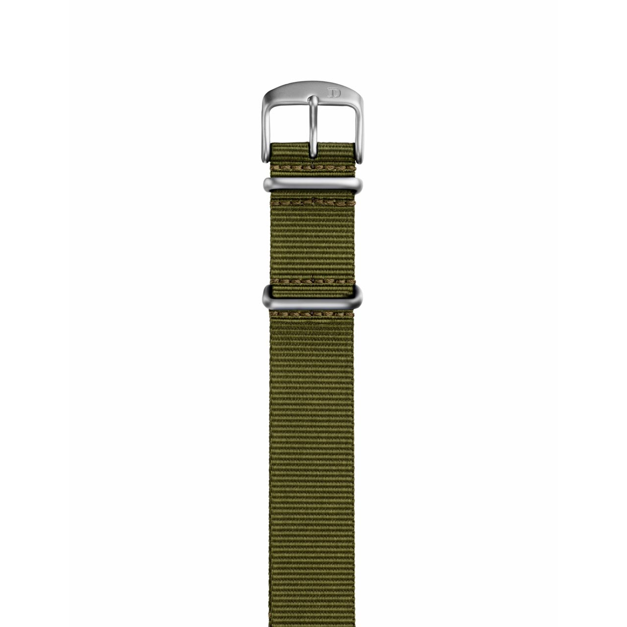 Damasko 22mm Green Nylon Military Strap with Silver Buckle